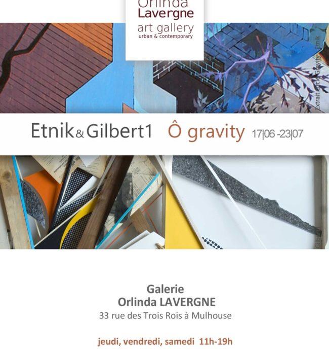 invitation de l'exposition Etnik et Gilbert1 à la Orlinda.gallery à Mulhouse