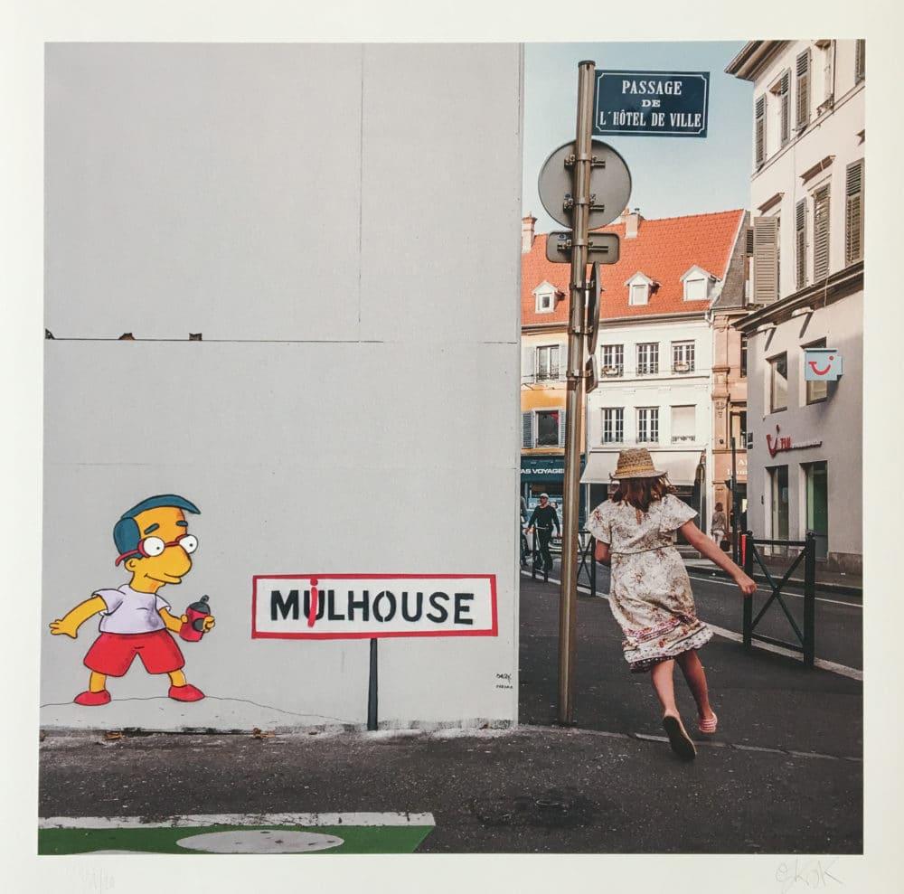 Milhouse oeuvre OAKOAK à Mulhouse