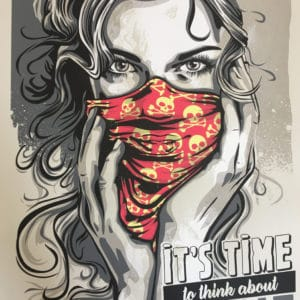 Serigraphie de RNSt it's time to think about revolt
