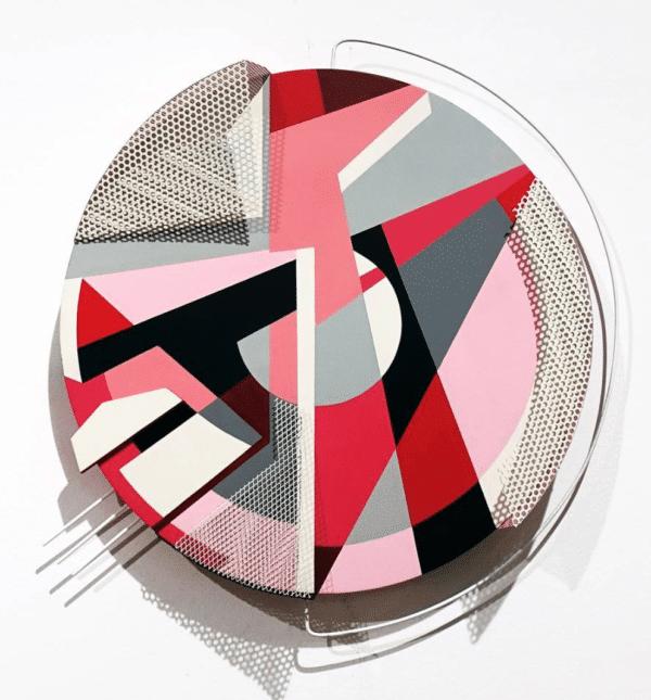 Eli Elem sculpture Murale ronde